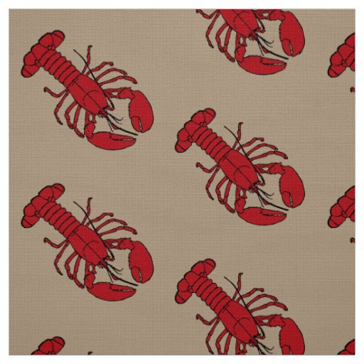 Taupe original da lagosta do tecido
