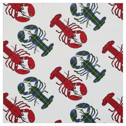 Taupe vermelho do Tartan da lagosta do tecido