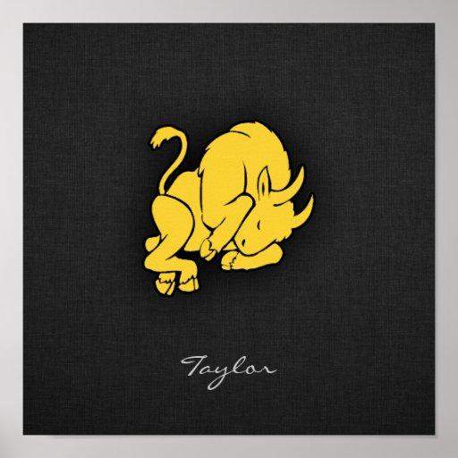 Taurus ambarino amarelo posteres