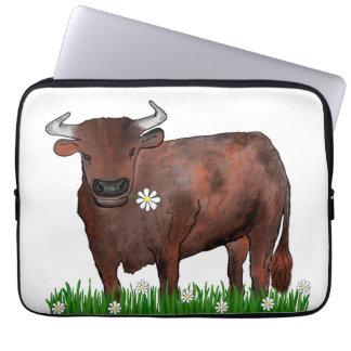 Taurus bonito Bull e caixa do laptop do zodíaco Capa Para Notebook