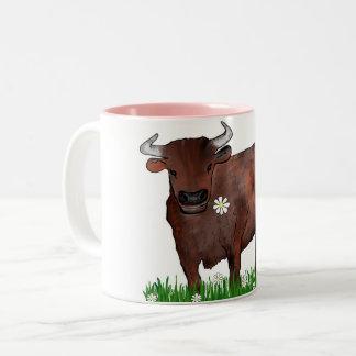 Taurus bonito Bull e caneca do zodíaco das
