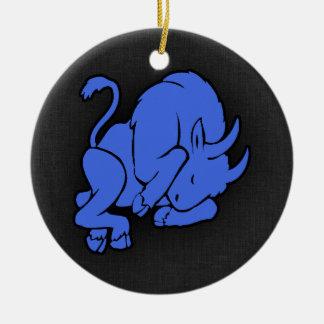 Taurus dos azuis marinhos enfeites para arvore de natal