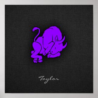 Taurus roxo violeta posters
