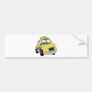 Táxi amarelo adesivo para carro