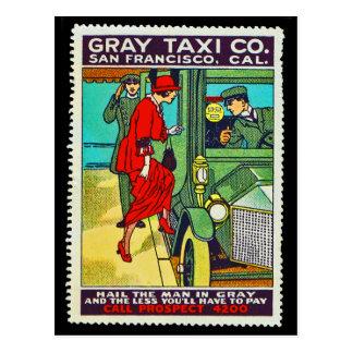Táxi cinzento Co. SF do cartão do selo do poster