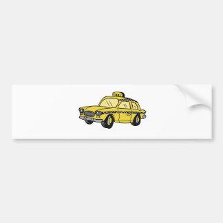 Táxi de táxi amarelo adesivo para carro