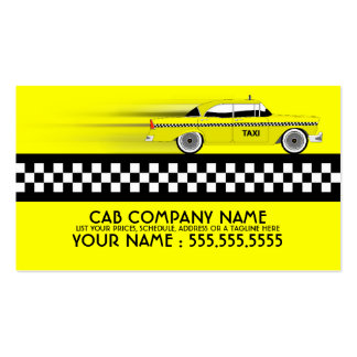 táxi de táxi cartoes de visitas
