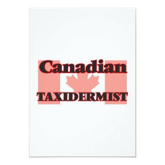 Taxidermist canadense convite 12.7 x 17.78cm