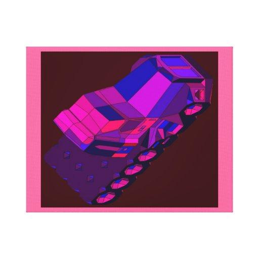 Táxis convencionais de Truckin do espaço do Impressão De Canvas Esticada