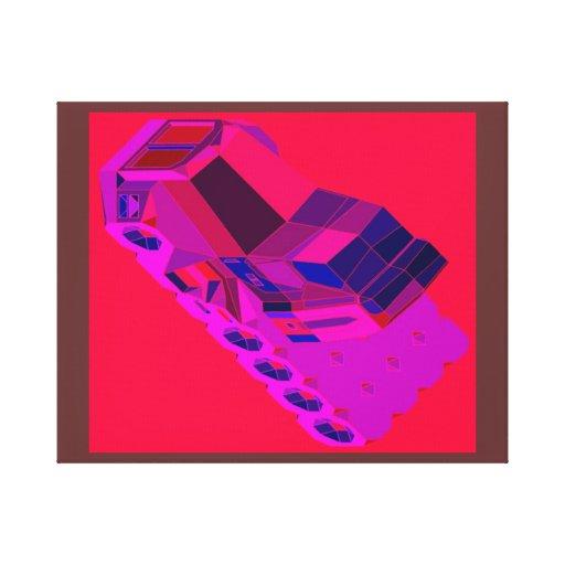 Táxis convencionais de Truckin do espaço do Impressão De Canvas Envolvidas