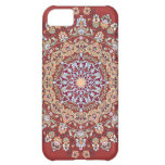 Tazhib del arte persa con fondo rojo mandala capa para iPhone 5C