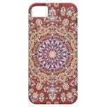Tazhib del arte persa con fondo rojo mandala capa para iPhone 5