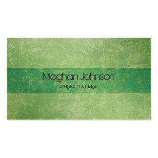 {TBA} Cartão de visita na moda verde floral do