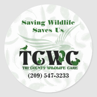 TCWC - Os animais selvagens da economia do Adesivo Redondo