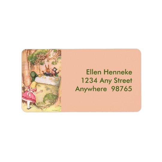 Tea party 4 etiqueta de endereço