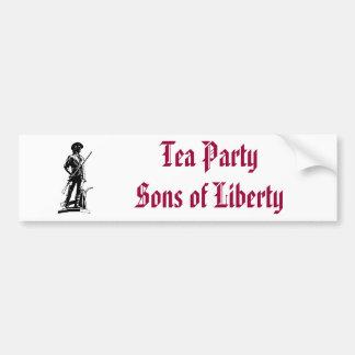 Tea party adesivo para carro