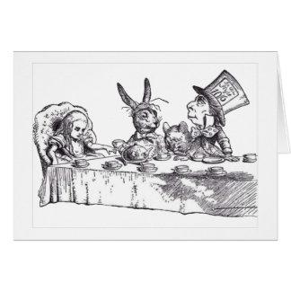 Tea party cartão comemorativo
