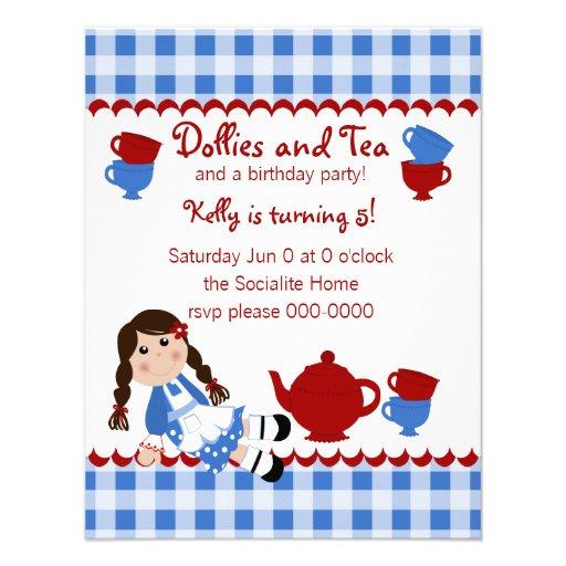 Tea party das zorras convites personalizado