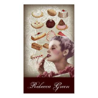tea party do chá de panela da pastelaria do cartão de visita
