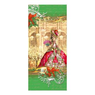 Tea party do Natal de Marie Antoinette Versalhes 10.16 X 22.86cm Panfleto