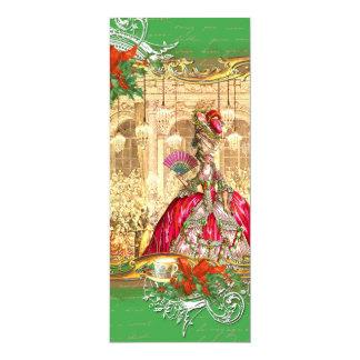 Tea party do Natal de Marie Antoinette Versalhes Convite 10.16 X 23.49cm