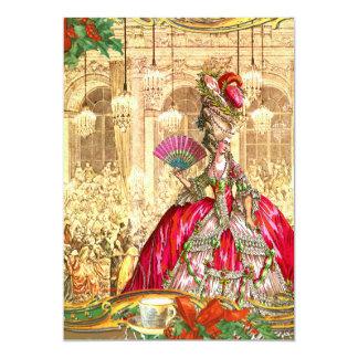 Tea party do Natal de Marie Antoinette Versalhes Convite 12.7 X 17.78cm