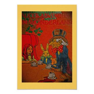 Tea party louco do Hatter Convite 8.89 X 12.7cm