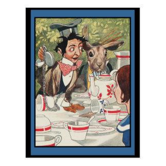 Tea party louco dos Hatters Cartão Postal