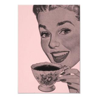 Tea party retro V2 Convites Personalizado