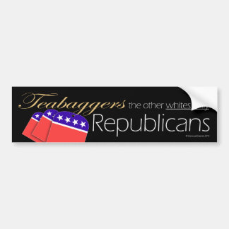 "Teabaggers os outros dos ""republicanos brancos som adesivos"