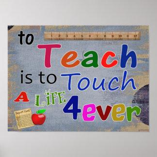 Teach é tocar para sempre-- IMPRESSÃO DA ARTE