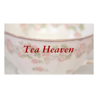 Teacup floral cor-de-rosa cartao de visita