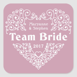 Team nomes da noiva & etiquetas feitos sob