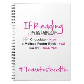 #TeamFosterette se lendo não perturbe o caderno