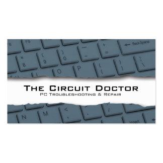 Tearaway do teclado do cartão de visita do reparo