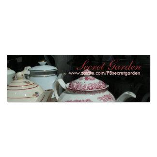 Teatime Cartão De Visita Skinny