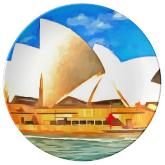Teatro da ópera bonito de Sydney Louça De Jantar