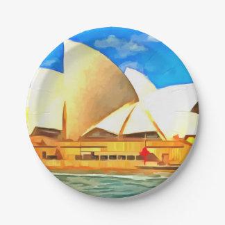 Teatro da ópera bonito de Sydney Prato De Papel