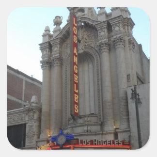 Teatro de Los Angeles Adesivo Quadrado