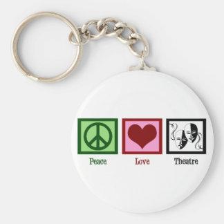 Teatro do amor da paz chaveiro