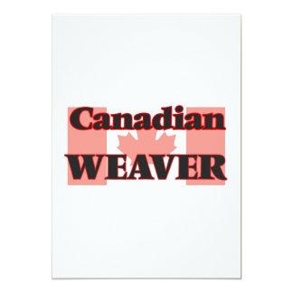 Tecelão canadense convite 12.7 x 17.78cm
