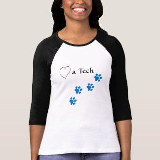 Techincian-Amor veterinário impressões Tshirts