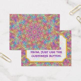 Techno colore cartões de visitas do teste padrão