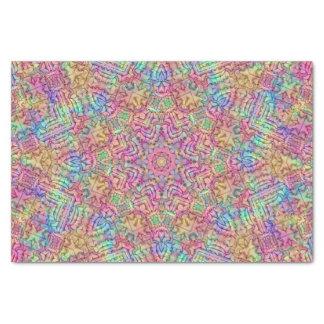 Techno colore o lenço de papel do teste padrão,
