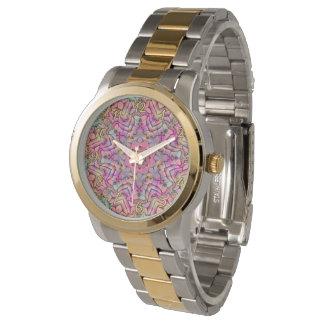 Techno colore o relógio das mulheres do vintage do