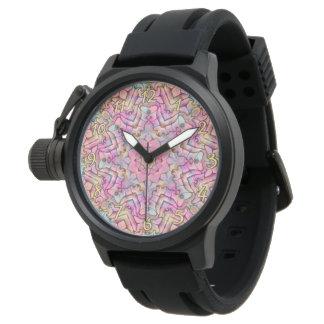 Techno colore o relógio   de homens do vintage do