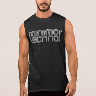 Techno mínimo - camisa sem mangas dos homens