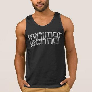 Techno mínimo - camisola de alças dos homens