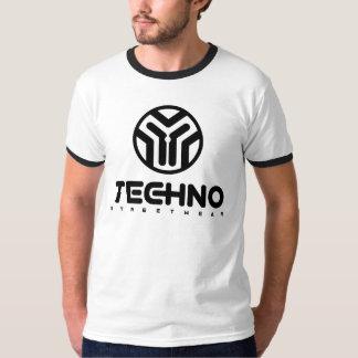 Techno Streetwear - logotipo - camisa dos homens