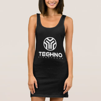 Techno Streetwear - logotipo - vestido do tanque